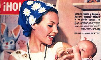 Hace 50 años, Carmen Sevilla presentaba a su hijo en ¡HOLA!