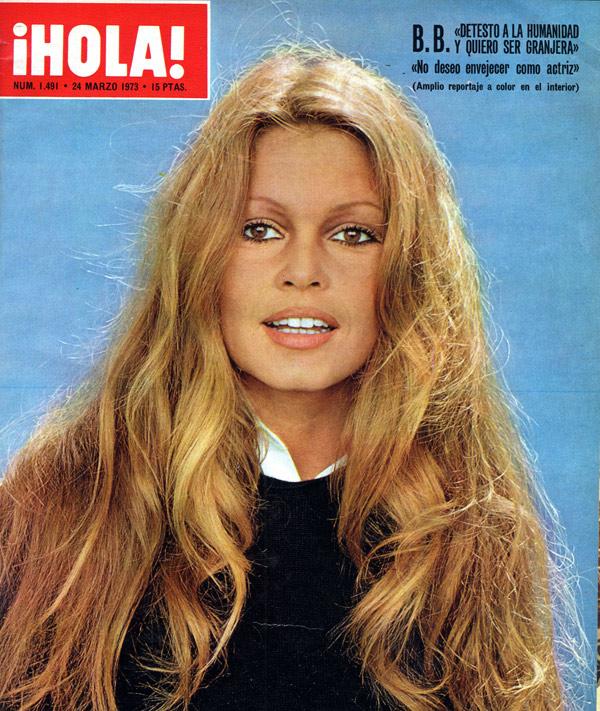 Brigitte Bardot, que cumple ahora 80 años, fue portada de ¡HOLA! en 1973