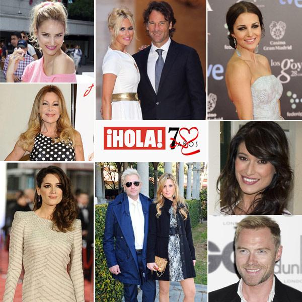 Los protagonistas de ¡HOLA! nos felicitan por 70 años de historia