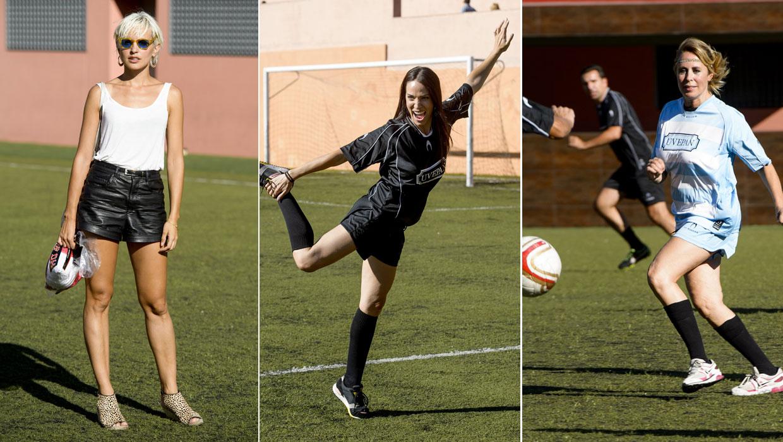 Un gol solidario y en pareja por Verónica Echegui y Álex García