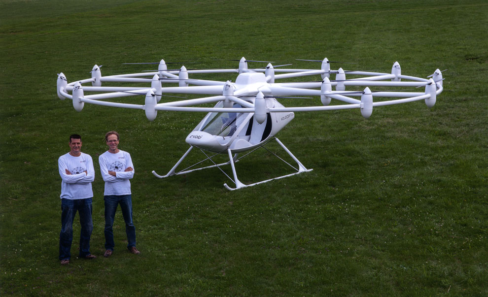 El multicóptero eleva el vuelo