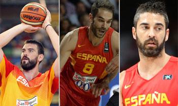 Los padrazos de la selección española de baloncesto