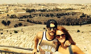 Ana Polvorosa y Luís Fernández pasean su amor por Israel
