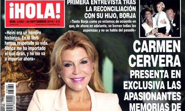 En ¡HOLA!, Carmen Cervera presenta en exclusiv