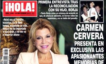 En ¡HOLA!, Carmen Cervera presenta en exclusiva las apasionantes memorias de su marido, el barón Thyssen