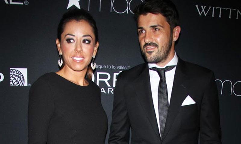 David Villa debuta en la vida social de Nueva York, junto a su mujer Patricia