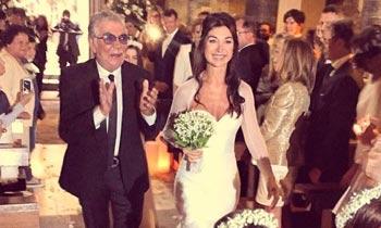 El orgullo y la emoción de Roberto Cavalli en la boda de su hija