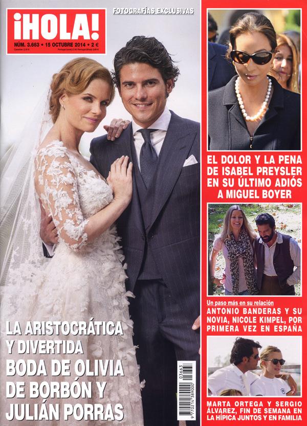 Se irán de luna de miel dentro de unos meses: Olivia de Borbón y Julián Porras regresan a Madrid tras su boda