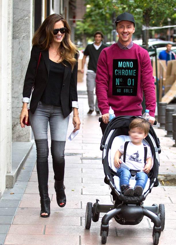Guti, Romina Belluscio y el pequeño Enzo, una familia muy 'trendy'