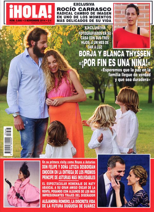 Borja y blanca thyssen confirman que esperan una ni a for Blanca romero y sus hijos