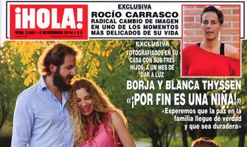 Borja y Blanca Thyssen: '¡Por fin es una niña!'