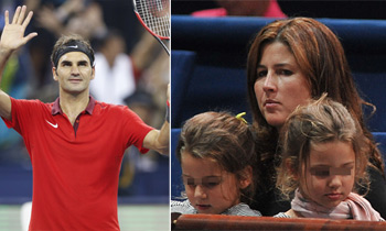 La mujer de Roger Federer, entre el público con sus gemelas pero sin sus gemelos