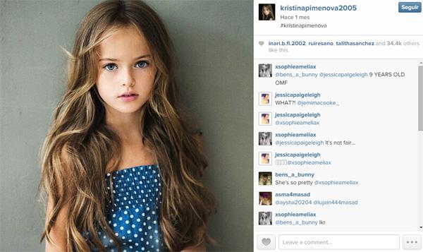 Conoce a Kristina Pimenova, 'la niña más guapa del mundo'