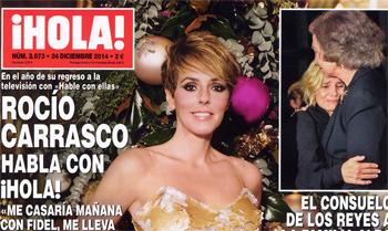 Rocío Carrasco hace balance de un intenso 2014 en ¡HOLA!