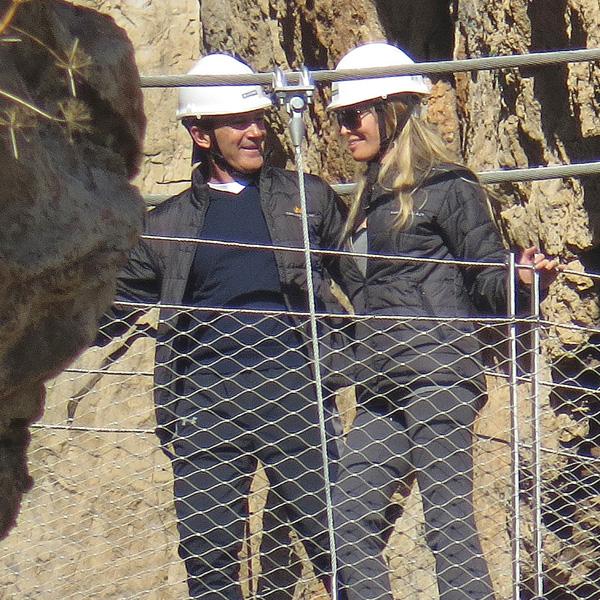 Antonio Banderas y Nicole Kimpel, un amor a prueba de alturas en Málaga