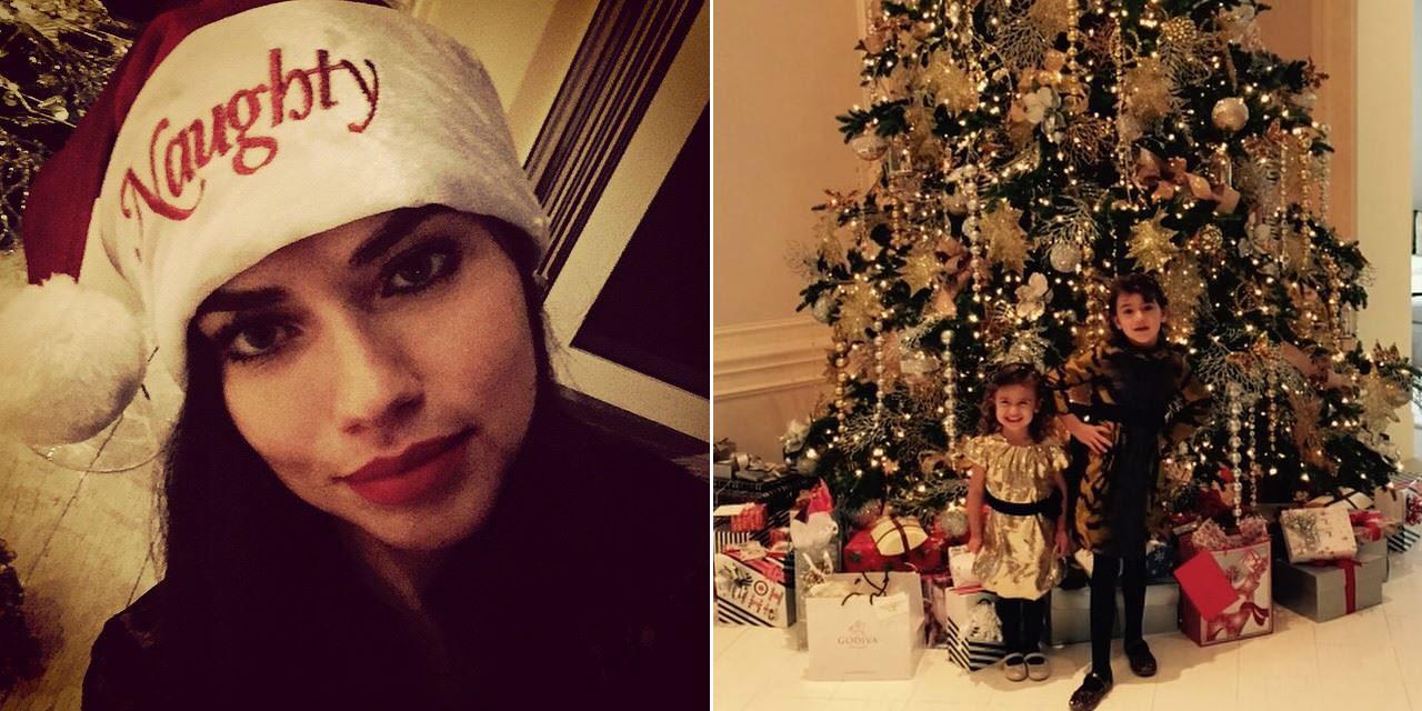 En pareja, en familia, con Papá Noel, junto al árbol... así han felicitado las 'celebrities' la Navidad
