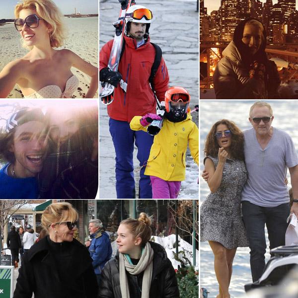 En el mar, en la montaña o en la pista de esquí: las vacaciones navideñas de las 'celebrities'