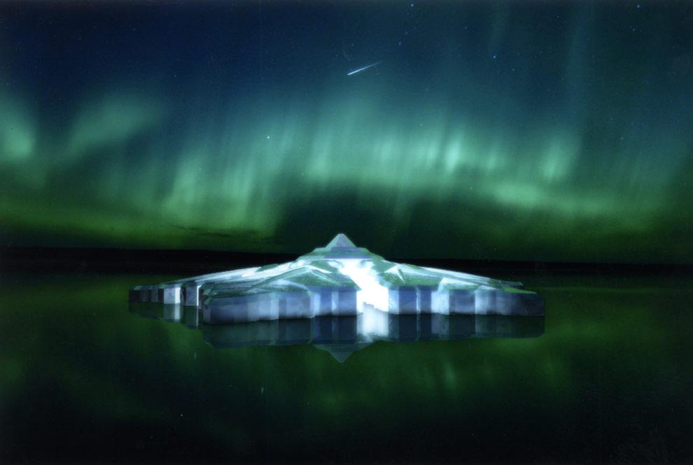 Un hotel de cristal en los fiordos noruegos