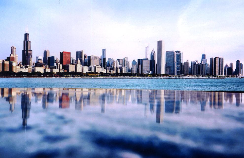 Chicago nos sorprende con sus fotogénicos reflejos
