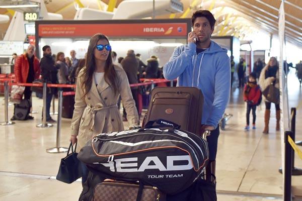 Ana Boyer y Fernando Verdasco regresan a Madrid tras pasar unos días juntos