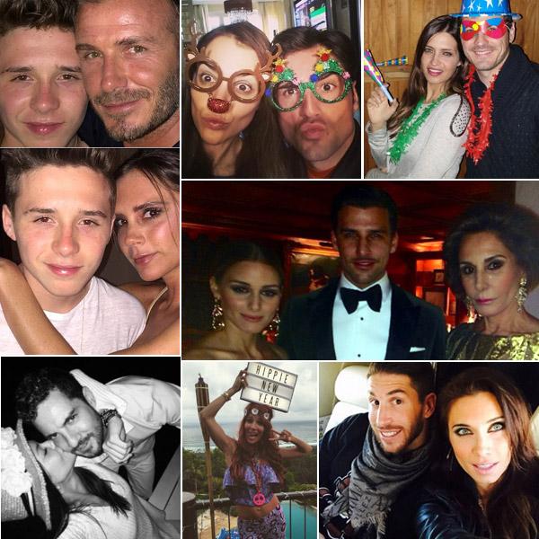 David Bustamante, Paula Echevarría, Elsa Pataky, los Beckham... ¿cómo han celebrado la llegada del 2015?