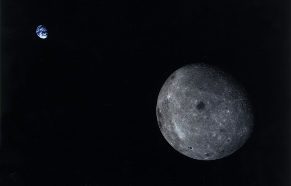 Una foto única de la cara oculta de la Luna