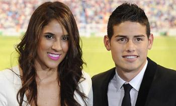 Doble cita deportiva en la familia de James Rodríguez y Daniela Ospina