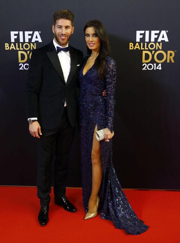 Sergio Ramos ha estado acompañado por Pilar Rubio