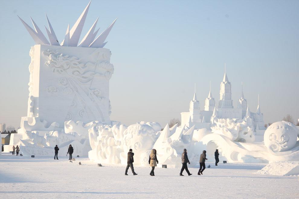 Un espectacular festival de nieve y hielo en China