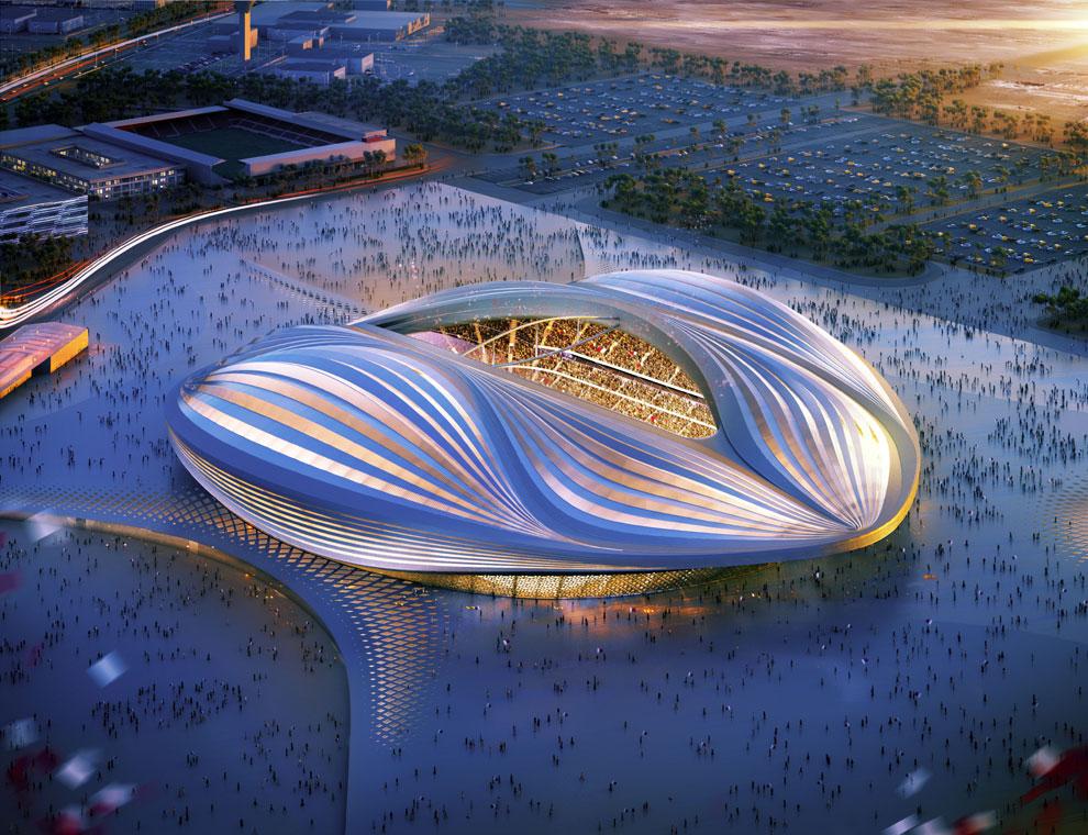 ¿Una nave espacial? ¡No! ¡Un estadio de fútbol!
