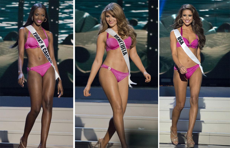 Desiré Cordero, aspirante a Miss Universo, une simpatía y belleza en el desfile en biquini