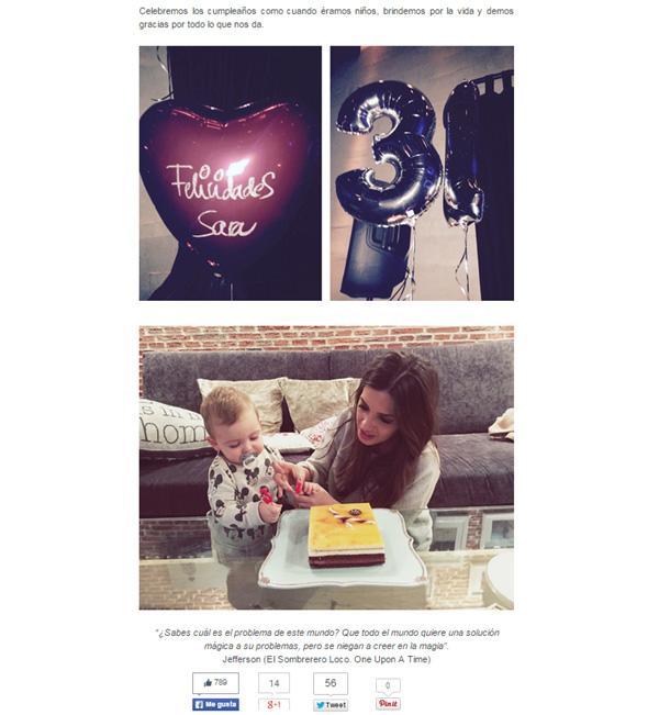 ¿Quién ayudó a Sara Carbonero a soplar sus velas de cumpleaños?