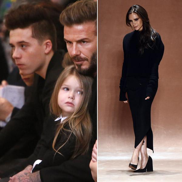 La familia Beckham al completo, el mejor apoyo de Victoria en su desfile