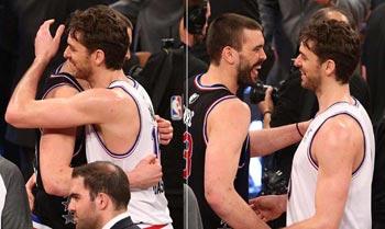 Pau y Marc Gasol se convierten en leyenda mundial por ser la mejor pareja de hermanos de la historia de la NBA