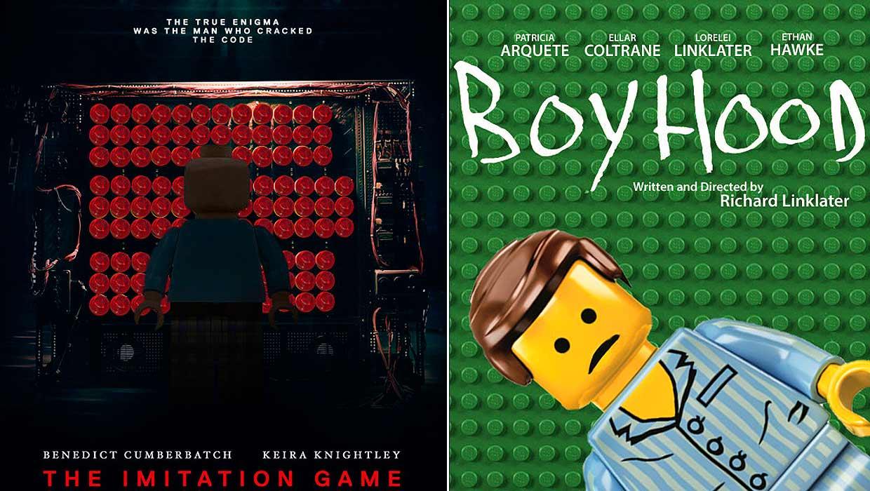 Oscars 2015: Lego recrea de nuevo los pósters de las películas nominadas