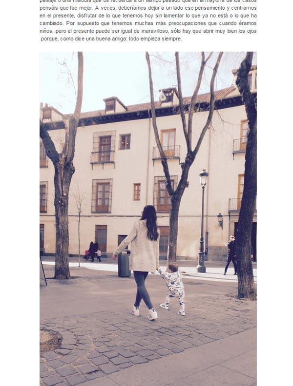 Los primeros pasos de Martín Casillas de la mano de su madre Sara Carbonero