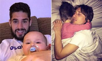 Leo Messi, Andrés Iniesta, Isco Alarcón y Luka Modric, el orgullo de los papás futbolistas