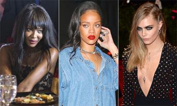 Y entre desfile y desfile... Naomi Campbell y Cara Delevingne se pelean por Rihanna en París
