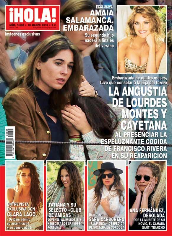 En ¡HOLA!, la angustia de Lourdes Montes y Cayetana al presenciar la espeluznante cogida de Francisco Rivera en su reaparición