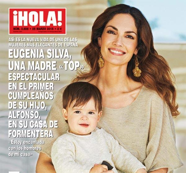 En ¡HOLA!, Eugenia Silva, una madre 'top' espectacular en el primer cumpleaños de su hijo Alfonso