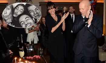 Irina Shayk se 'cuela' en la fiesta de cumpleaños de Bruce Willis: 'Felices 60, gracias por recibirme'