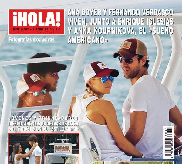 Exclusiva en ¡HOLA!, Ana Boyer y Fernando Verdasco disfrutan de unos días de amor y sol en Miami junto a Enrique Iglesias y Anna Kournikova