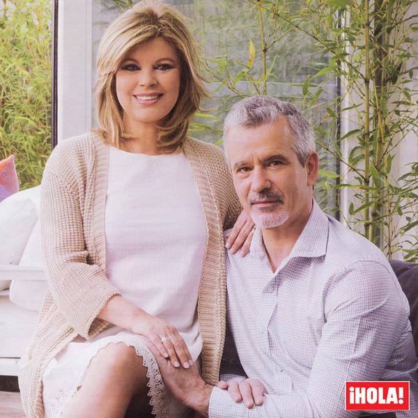En ¡HOLA!, Terelu Campos y José Valenciano, primer reportaje juntos en su casa: 'Me ha propuesto que me case con él'
