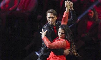 El fugaz paso de Katia Aveiro, hermana de Ronaldo, por el '¡Mira quién baila!' portugués con un 'tango futbolero'