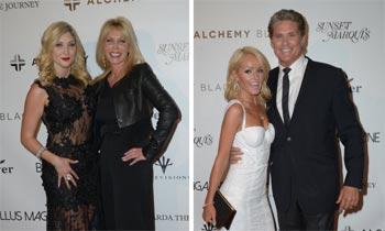David Hasselhoff, con su ex, su actual novia y sus hijas, una 'familia' bien avenida