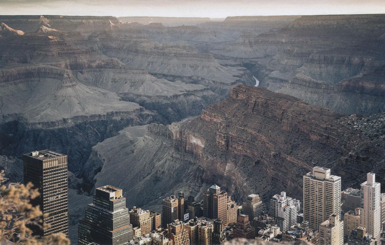 ¿Cómo sería Nueva York en el Gran Cañón?