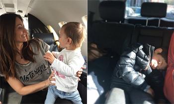 Nagore Aranburu disfruta de unas cortas vacaciones con sus hijos en San Sebastián