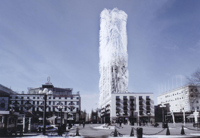 'Strawscraper', el edificio peludo que captura energía del viento