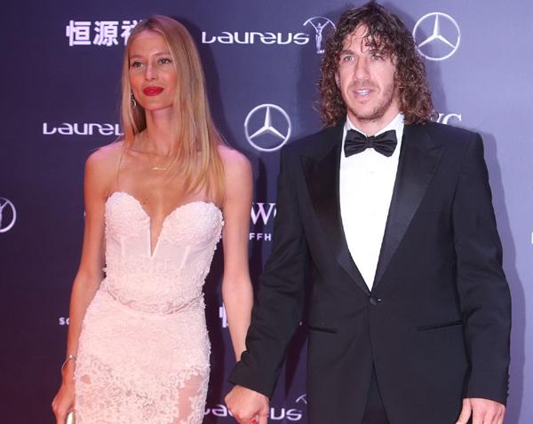 Vanesa Lorenzo, espectacular junto a Carles Puyol en la Gala de los Premios Laureus