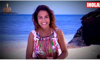Comienza Supervivientes 2015: Lara Álvarez, en bikini y sin apenas maquillaje, nos saluda desde el paraíso